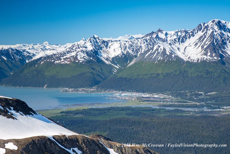 Seward, Alaska as seen from Mt. Eva