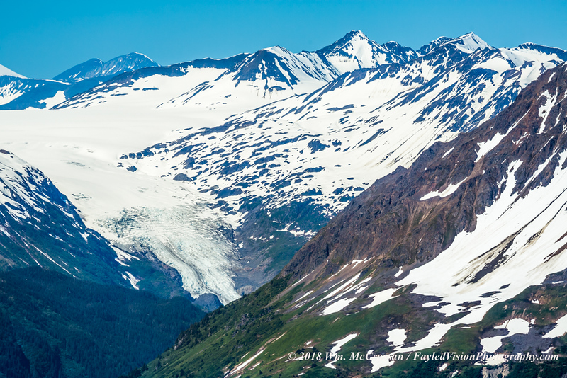 Exit Glacier as viewed from the slopes of Mt. Eva