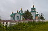 The Transfiguation of Our Lord Russian Orthodox church in Ninilichik, Alaska, USA, America.