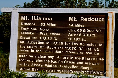 Mt Iliammna & Mt Redoubt Interpretive Sign