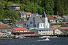 Ketchikan waterfront with church