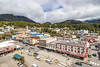 Streets of the city of Ketchikan, Alaska, USA.