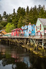 Creek Street in Ketchikan, Alaska, USA.