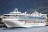 The Star Princess cruise ship docked at Ketchikan, Alaska, USA.