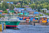 Colorful buildings in the cruise ship port of Ketchikan, Alaska, USA.