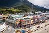 Streets of the city of Ketchikan, Alaska, USA.