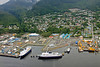 Ketchikan harbor and town from float plane