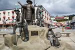 The Rock park in downtown, Ketchikan, Alaska, USA.