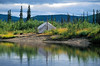 Native fish camp along the middle section of the Kobuk River.