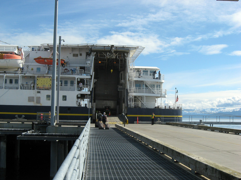 Boarding the Kennicott in Homer