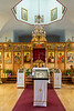 Interior of the Holy Resurrection Russian Orthodox Church in Kodiak, Alaska, USA.