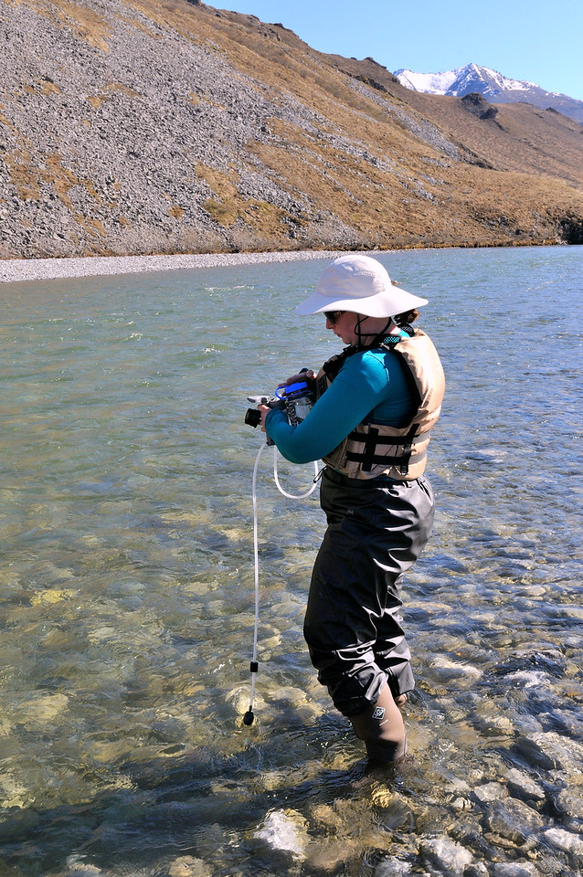 Filtering river water.