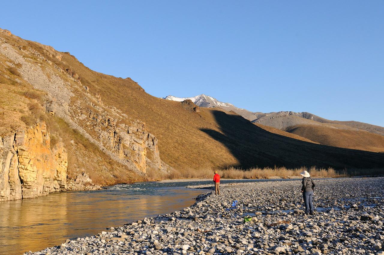 Fishing for arctic char.