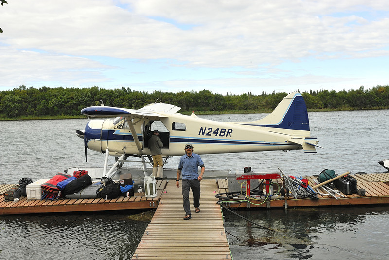 Loading up the first beaver flight from King Salmon to Katmai.