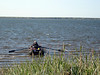 As winds increase, Jack drops me ashore to walk--to make rowing easier