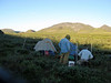 We set up camp late evening in the shadow of hills to north