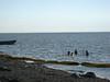 Global warming in Kotzebue -- kids playing in the sea