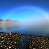 Fogbow over Lower Twin Lake