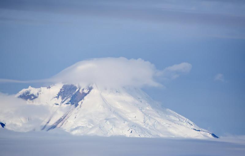 The active volcano, Mt. Iliamna.