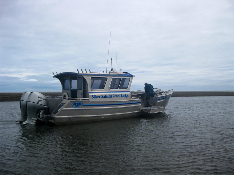 The specially designed photography boat that took us to Puffin Island.