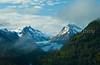 A mountain scene along the Richardson highway, Alaska, USA, America.