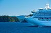 The cruise ship Diamond Princess in the inside passage of Alaska, USA, America.