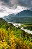 The Metanuska River Valley along the Glenn Highway, Alaska, USA.