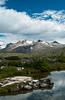 Mountain scenes along the Kondike Highway between Skagway, Alaska and the Canadian Yukon territories.