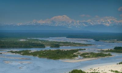 Flying towards Mt. McKinley from Talkeetna, Alaska.