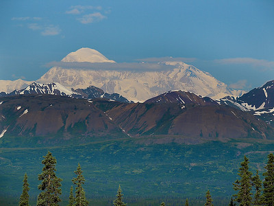 Mt. McKinley as seen from the highway between Talkeetna and Denali National Park.