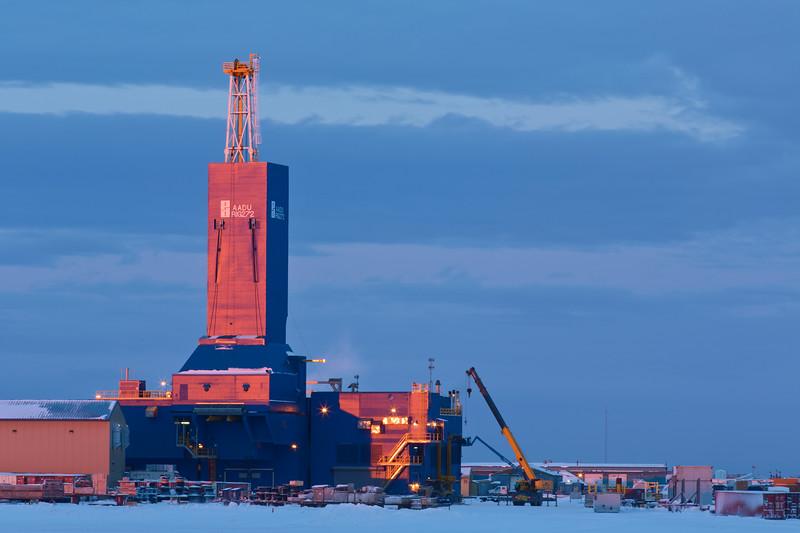 Drilling Rig, Prudho Bay, Alaska