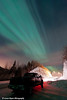 Aurora Borealis (Northern Lights) over the Old Glenn Highway in the Matanuska-Susitna Valley<br /> Alaska<br /> January 24, 2012