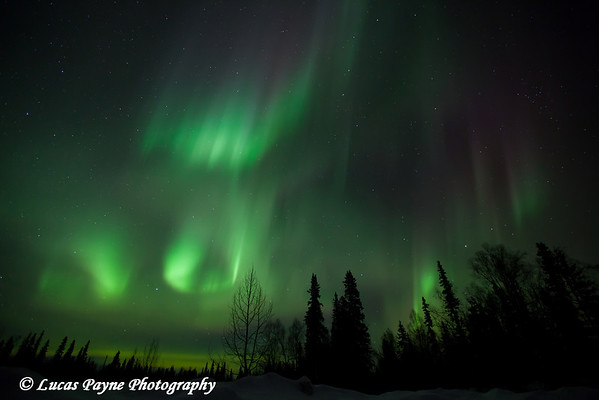 The Aurora Borealis (Northern Lights) dancing overhead from the Petersville Road on St. Patricks Day<br /> March 16, 2012