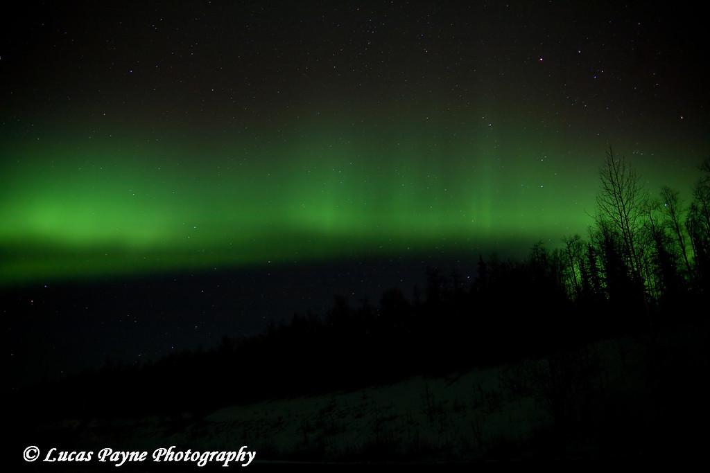 The aurora borealis in Alaska.<br /> October 28, 2008