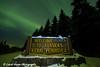 "View of the Aurora Borealis (Northern Lights) dancing above the ""Welcome To Alaska's Kenai Peninsula"" sign, Kenai Peninsula, Alaska<br /> <br /> March 17, 2013"