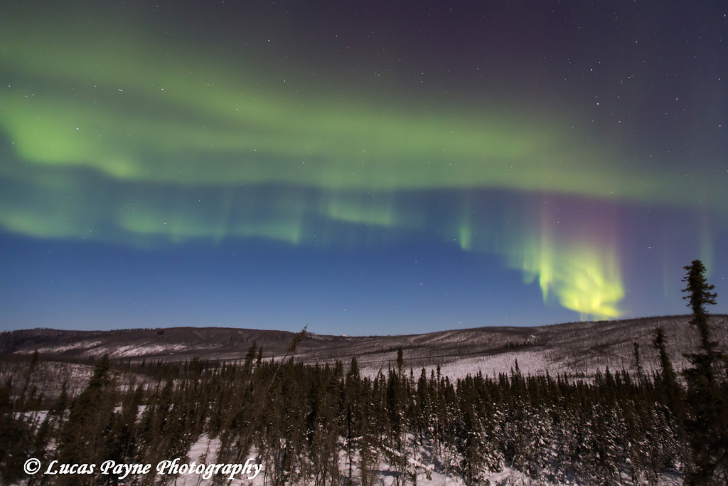 Northern Lights as seen from the James Dalton Highway (Haul Road) north of Fairbanks, Alaska<br /> <br /> November 23, 2012