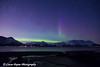 Green band of the Aurora Borealis (Northern Lights) over the Chugach Mountains and Turnagain Arm<br /> April 14, 2012