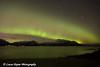 View of the Aurora Borealis (Northern Lights) above the Chugach Mountains and Turnagain Arm, Kenai Peninsula, Southcentral, Alaska.<br /> <br /> November 03, 2015