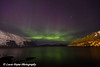 Purple and green Aurora Borealis (Northern Lights) over Passage Canal and Prince William Sound from the town of Whittier, Southcentral Alaska<br /> <br /> April 14, 2013