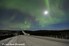 Northern Lights dancing over the James Dalton Highway (Haul Road) north of Fairbanks, Alaska<br /> <br /> November 23, 2012