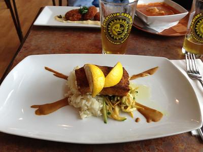 Halibut Dinner @ Grande Denali Lodge