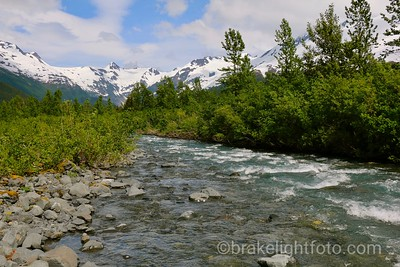 Stream flowing from Burns Glacier