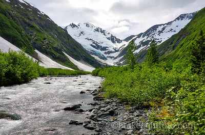 Stream flowing from the Burns Glacier