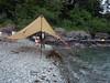 The kitchen tarp as the tide rises