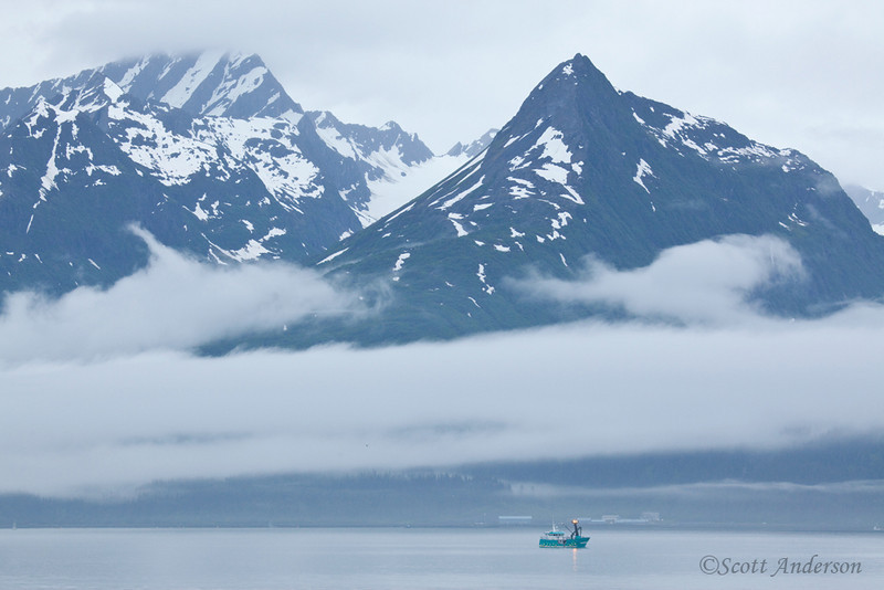 Our ferry from Valdez to Whittier was heavily engulfed in fog.