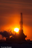 Doyon Drilling Rig at sunset in the Prudhoe Bay Oil Field, North Slope, Arctic Alaska<br /> <br /> February 05, 2013
