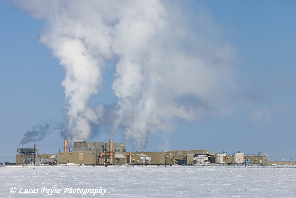 View of Flow Station 2 (FS2)  in the Prudhoe Bay Oilfield, North Slope, Arctic Alaska<br /> March 09, 2012