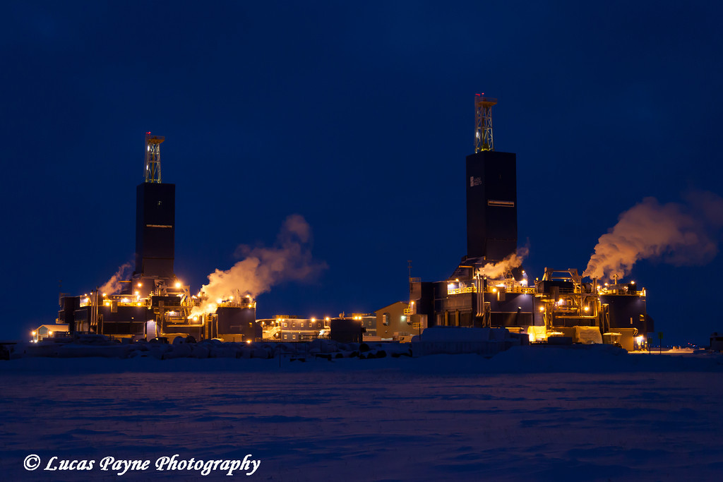 Two new Parker Drilling Rigs at Crazy Horse Pad in Deadhorse, North Slope, Arctic Alaska<br /> <br /> December 05, 2012