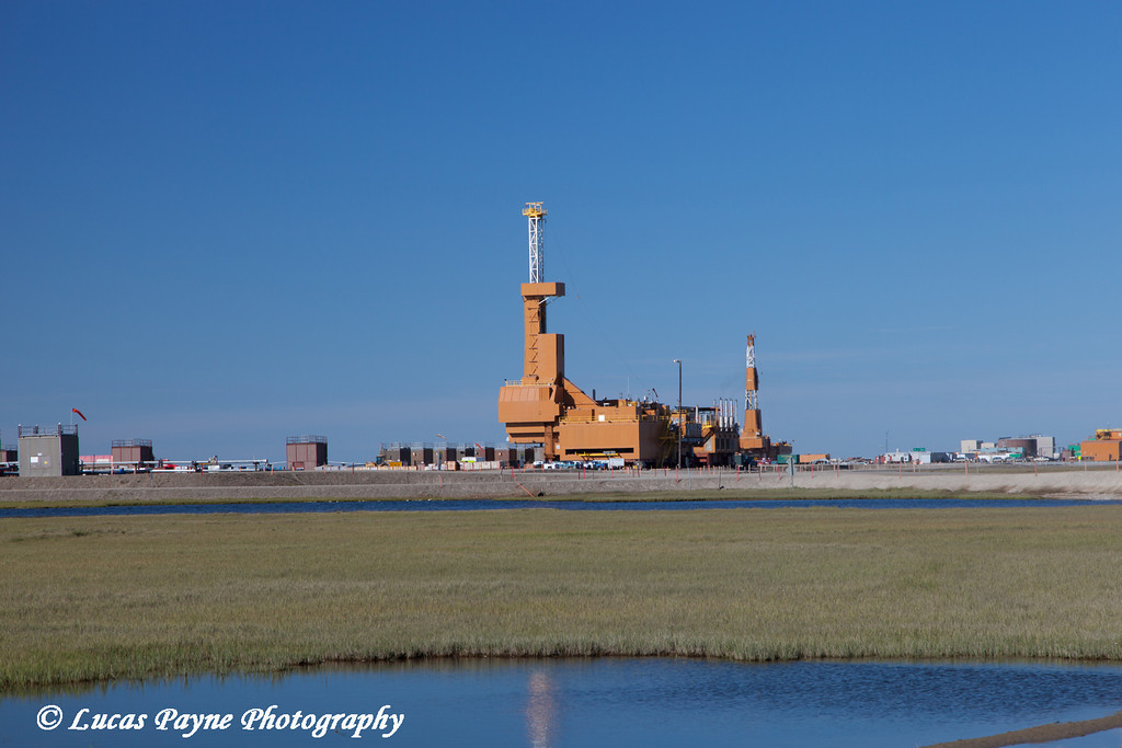 Doyon Drilling Rig #25 on J Pad in the Prudhoe Bay Oilfield, North Slope, Arctic Alaska.<br /> <br /> July 21, 2013