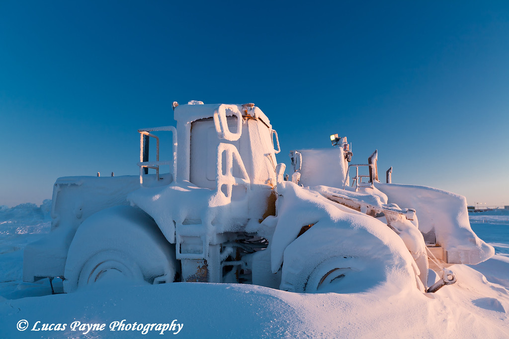 Snow Covered Loaders Prudhoe Bay<br /> February 2011